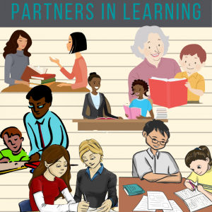 multi-racial clipart images of tutor/mentor pairs